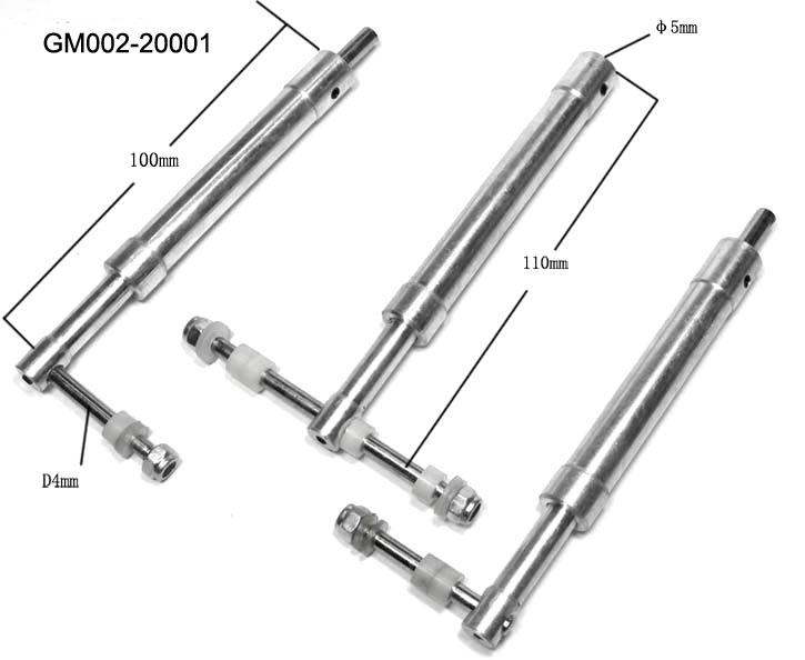 110mm oleo struts tri gear single mains    100 dual nose