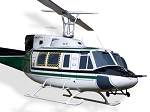 Bell 212 Green and White Civilian / Heavy Lift