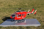 EC145 Life Flight - Red, White and Black - (600 Size)