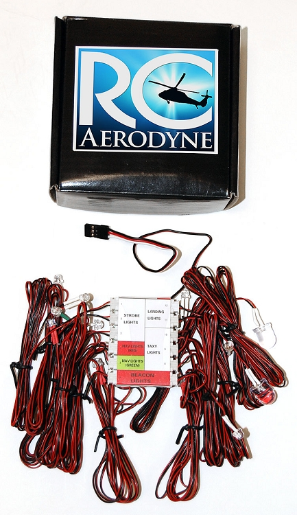 Scale Led Lighting System For Rc Helicopters Amp Airplanes