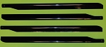 Set of 4 Rotor blades (Black) for 700 size UH-60
