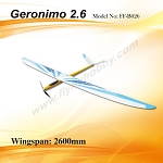 Geronimo 2.6 Electric Kit +Prop & Spinner