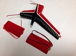 470 SIZE AS350 RED AND BLACK TAIL FIN SET