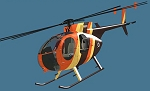 MD500D Fiberglass Scale Body Orange/Yellow/Brown Version (450-Size)