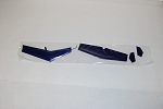 Tail Fin Set for a 500size MD500E Blue (COPY)