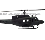 UH-1N - Olive Drab / Black - Scale Fiberglass Fuselage (600-Size) Licensed Bell Helicopter Product