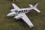 Beechcraft Baron G58 Composite ARF - Red/Black/Grey
