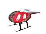 MD500D Fiberglass Scale Body Red Police Version (500-Size)