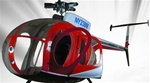 MD500D Fiberglass Scale Body Red Police (600-Size)