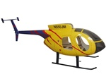 MD500E Fiberglass Scale Body, Yellow Version with Working Doors (600-Size)