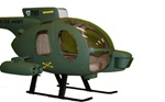 MD500 Fiberglass Scale Body Military Version with Weaponry (450-Size)