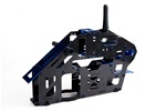 Full House Helis 500-Size Carbon Fiber & CNC Aluminum Main Frame Assembly - Blue Edition