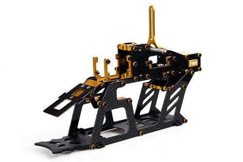 450 Size Carbon Fiber Amp Metal Main Frame Assembly