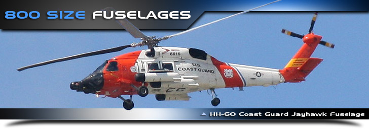 800 Size Scale Rc Helicopter Fuselages