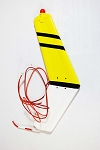 470 size Bell 407 Replacement Vertical Fin (Yellow/Black)