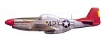 "P-51D Mustang Red Tail 63"" Wingspan Full Composite"