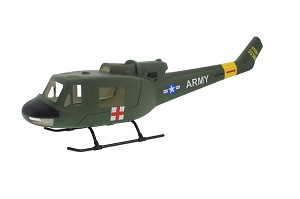 UH1-B Fiberglass Scale Body, Military Version (450-Size) Licensed Bell Helicopter Product