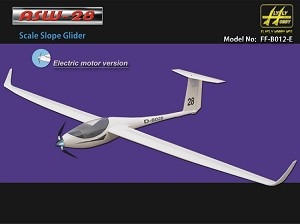 ASW-28 Scale slope glider with propeller