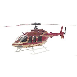Bell 407 Red and Gold SuperScale™ Helicopter Super Combo