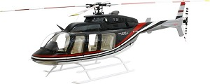 700 Size Super Scale Bell 407 (Black & Red)
