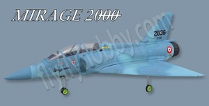 Mirage 2000 with Fan, and Scale Struts Combo! (Blue)