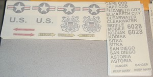 US Coast guard Decal set