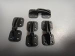 Helicopter door hinges large (4)