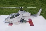 Bell AH-1 Grey Cobra Scale Fuselage W/ Toque Drive System (500 Size) Licensed Bell Helicopter Product