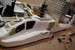 AH-64 Apache Fiberglass Fuselage (60 Size) Short Kit - White Gelcoat - Licensed Boeing Product