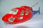 "AS350 ""News 9"" Fiberglass Helicopter Fuselage (450-Size)"