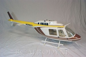 Bell 206 Jet Ranger - Tan & Brown Scale Fiberglass Fuselage (700-Size) Licensed Bell Helicopter Product