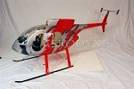 MD500 Red G JIVE Scale Fiberglass Fuselage (700-Size)