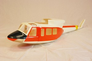 Bell UH-1N Fiberglass Fuselage 450 Size (Orange and White)