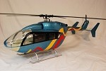 EC145 Factory Colors Fiberglass Helicopter Fuselage Version 2 Torque Tube