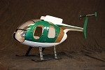 MD500 Fiberglass Scale Body Green/Copper Police Version (450-Size)