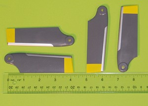 Set of 4 Tail Blades for AS350 700 size