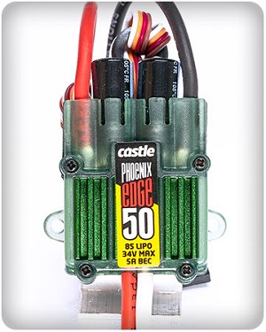 Castle Creations Edge 32V 50A ESC W/ Programmable 5A BEC