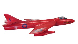 Hawker Hunter Red ARF Includes Retracts, and Fan