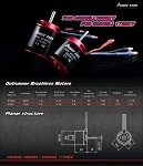 Brushless Motor, 1700 KV(RPM/V)