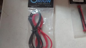 ORION HIGH QUALITY SILICONE WIRE. SET OF RED-BLACK, 1-METER 12AWG WIRE