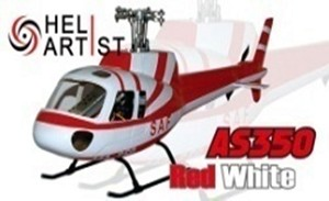 AS350 White/Red ( 450 Size )