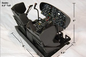 600 Size UH1N Scale Cockpit