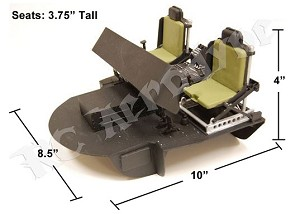 600 Size Cockpit for Black Hawk, Seahawk and Jayhawk Helicopters.