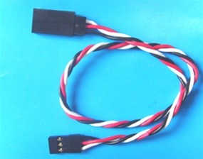 "Futaba  6.30""  (160 mm) Anti-interference Extension with 26 AWG heavy wires"