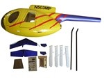MD500D Fiberglass Scale Body, Yellow (600-Size)