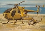 MD500 TOW Defender IAF Fiberglass Helicopter Fuselage (600-Size) Includes Weapons Set Inside
