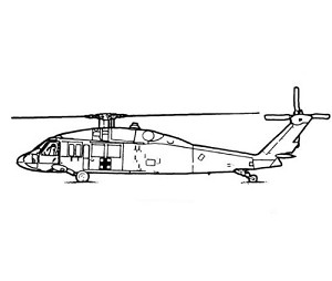 UH-60 Black Hawk White Gel Coat Scale Fiberglass Fuselage (600-Size) Version 3 Torque Tube Edition