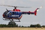 MBB BO-105 Blue-Red-White Polizei Scale Fiberglass Fuselage (500 Size)