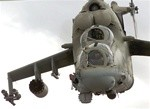 MI-24 HIND Russian Attack Helicopter White Gel Coat Fiberglass Fuselage (600-Size)