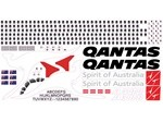 Airbus A380 Qantas Scale Decal Stickers